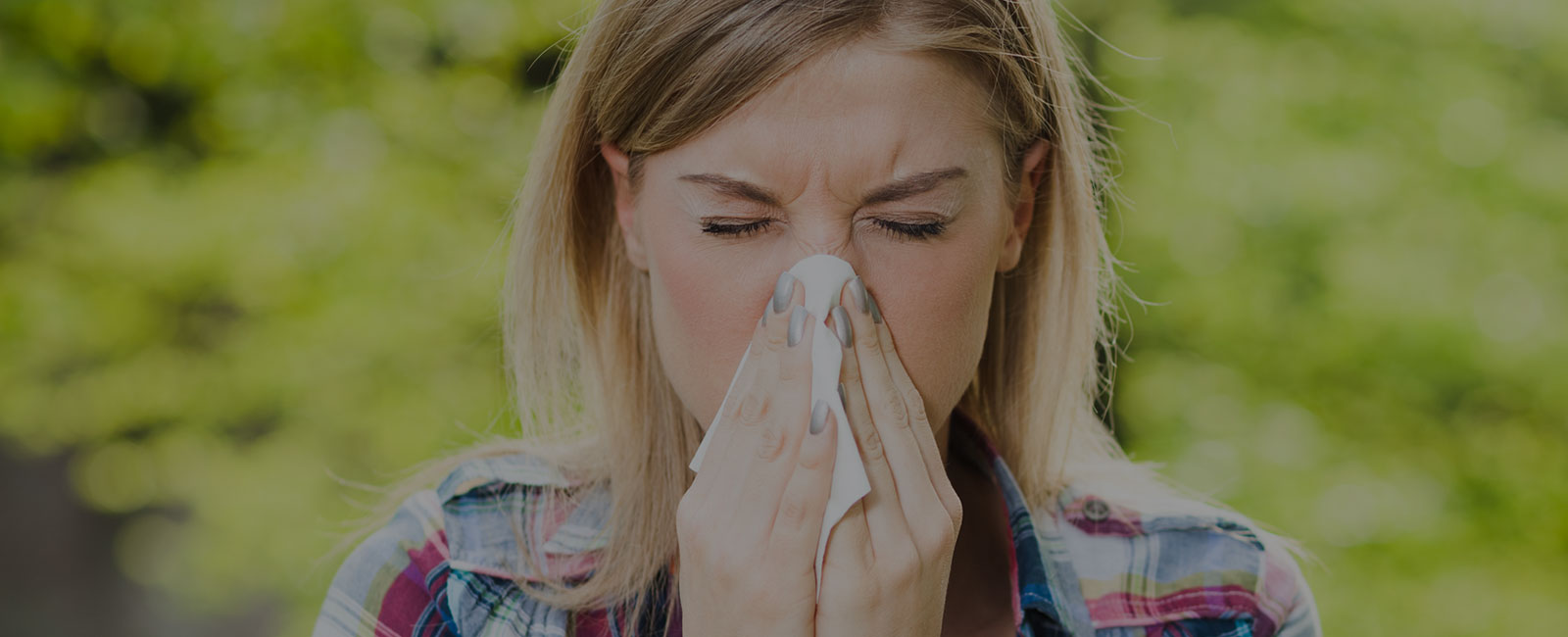 woman with sinus problems